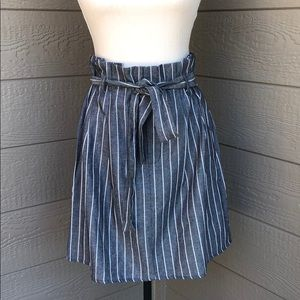 I Love Striped Bag Skirt